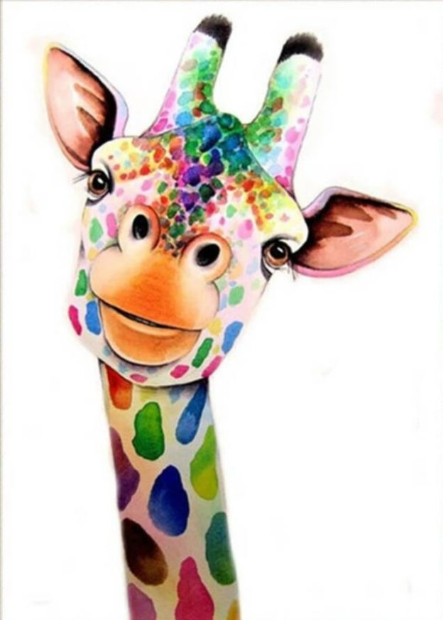 Tableaux Diamants Girafe